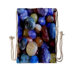 Rock Tumbler Used To Polish A Collection Of Small Colorful Pebbles Drawstring Bag (small)