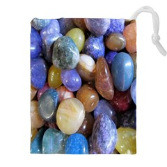 Rock Tumbler Used To Polish A Collection Of Small Colorful Pebbles Drawstring Pouches (xxl)