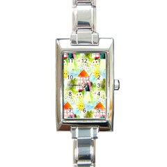 Summer House And Garden A Completely Seamless Tile Able Background Rectangle Italian Charm Watch