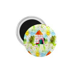 Summer House And Garden A Completely Seamless Tile Able Background 1 75  Magnets