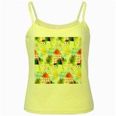 Summer House And Garden A Completely Seamless Tile Able Background Yellow Spaghetti Tank