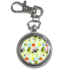 Summer House And Garden A Completely Seamless Tile Able Background Key Chain Watches