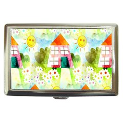 Summer House And Garden A Completely Seamless Tile Able Background Cigarette Money Cases