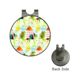 Summer House And Garden A Completely Seamless Tile Able Background Hat Clips with Golf Markers