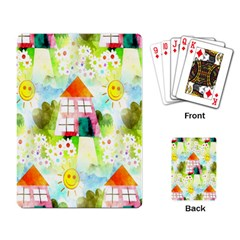 Summer House And Garden A Completely Seamless Tile Able Background Playing Card