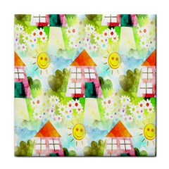 Summer House And Garden A Completely Seamless Tile Able Background Face Towel