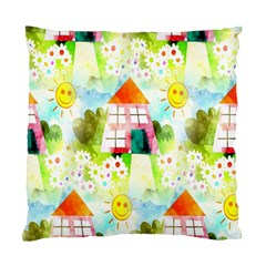 Summer House And Garden A Completely Seamless Tile Able Background Standard Cushion Case (One Side)