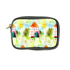 Summer House And Garden A Completely Seamless Tile Able Background Coin Purse
