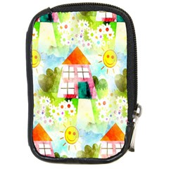 Summer House And Garden A Completely Seamless Tile Able Background Compact Camera Cases
