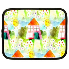 Summer House And Garden A Completely Seamless Tile Able Background Netbook Case (xl)