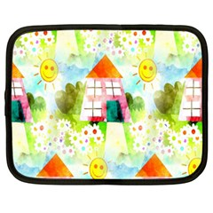 Summer House And Garden A Completely Seamless Tile Able Background Netbook Case (XXL)