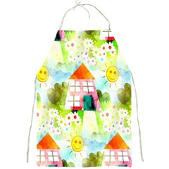 Summer House And Garden A Completely Seamless Tile Able Background Full Print Aprons