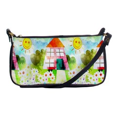 Summer House And Garden A Completely Seamless Tile Able Background Shoulder Clutch Bags