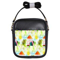Summer House And Garden A Completely Seamless Tile Able Background Girls Sling Bags