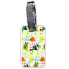 Summer House And Garden A Completely Seamless Tile Able Background Luggage Tags (two Sides)