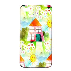 Summer House And Garden A Completely Seamless Tile Able Background Apple iPhone 4/4s Seamless Case (Black)
