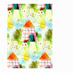 Summer House And Garden A Completely Seamless Tile Able Background Large Garden Flag (Two Sides)