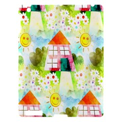 Summer House And Garden A Completely Seamless Tile Able Background Apple iPad 3/4 Hardshell Case