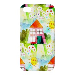 Summer House And Garden A Completely Seamless Tile Able Background Apple iPhone 4/4S Premium Hardshell Case