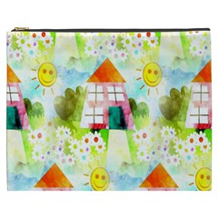 Summer House And Garden A Completely Seamless Tile Able Background Cosmetic Bag (XXXL)