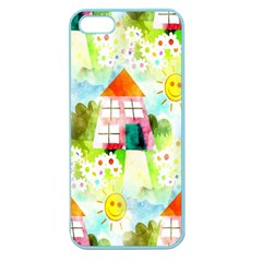 Summer House And Garden A Completely Seamless Tile Able Background Apple Seamless Iphone 5 Case (color)