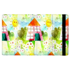 Summer House And Garden A Completely Seamless Tile Able Background Apple Ipad 3/4 Flip Case