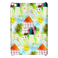 Summer House And Garden A Completely Seamless Tile Able Background Apple iPad Mini Hardshell Case