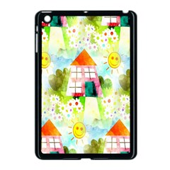 Summer House And Garden A Completely Seamless Tile Able Background Apple iPad Mini Case (Black)