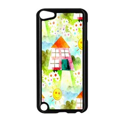Summer House And Garden A Completely Seamless Tile Able Background Apple iPod Touch 5 Case (Black)