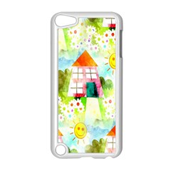 Summer House And Garden A Completely Seamless Tile Able Background Apple iPod Touch 5 Case (White)
