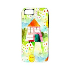 Summer House And Garden A Completely Seamless Tile Able Background Apple iPhone 5 Classic Hardshell Case (PC+Silicone)