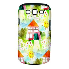 Summer House And Garden A Completely Seamless Tile Able Background Samsung Galaxy S III Classic Hardshell Case (PC+Silicone)