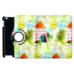 Summer House And Garden A Completely Seamless Tile Able Background Apple iPad 2 Flip 360 Case
