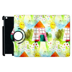 Summer House And Garden A Completely Seamless Tile Able Background Apple iPad 3/4 Flip 360 Case