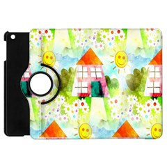 Summer House And Garden A Completely Seamless Tile Able Background Apple iPad Mini Flip 360 Case