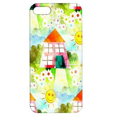 Summer House And Garden A Completely Seamless Tile Able Background Apple Iphone 5 Hardshell Case With Stand