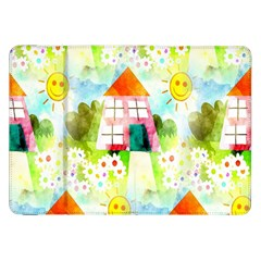 Summer House And Garden A Completely Seamless Tile Able Background Samsung Galaxy Tab 8.9  P7300 Flip Case
