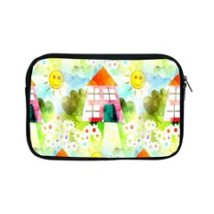 Summer House And Garden A Completely Seamless Tile Able Background Apple iPad Mini Zipper Cases
