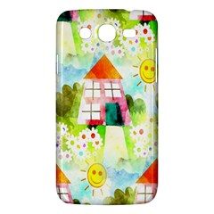 Summer House And Garden A Completely Seamless Tile Able Background Samsung Galaxy Mega 5.8 I9152 Hardshell Case