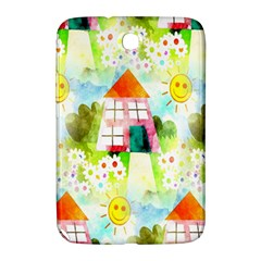 Summer House And Garden A Completely Seamless Tile Able Background Samsung Galaxy Note 8.0 N5100 Hardshell Case