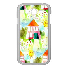 Summer House And Garden A Completely Seamless Tile Able Background Samsung Galaxy Grand Duos I9082 Case (white)