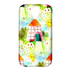 Summer House And Garden A Completely Seamless Tile Able Background Samsung Galaxy S4 Classic Hardshell Case (PC+Silicone)