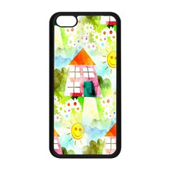 Summer House And Garden A Completely Seamless Tile Able Background Apple iPhone 5C Seamless Case (Black)