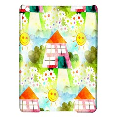 Summer House And Garden A Completely Seamless Tile Able Background iPad Air Hardshell Cases