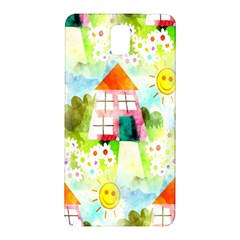 Summer House And Garden A Completely Seamless Tile Able Background Samsung Galaxy Note 3 N9005 Hardshell Back Case