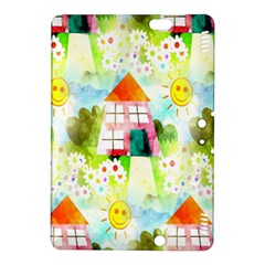 Summer House And Garden A Completely Seamless Tile Able Background Kindle Fire HDX 8.9  Hardshell Case