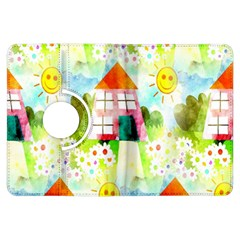 Summer House And Garden A Completely Seamless Tile Able Background Kindle Fire HDX Flip 360 Case