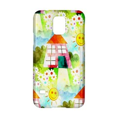 Summer House And Garden A Completely Seamless Tile Able Background Samsung Galaxy S5 Hardshell Case