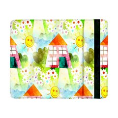 Summer House And Garden A Completely Seamless Tile Able Background Samsung Galaxy Tab Pro 8.4  Flip Case