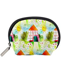 Summer House And Garden A Completely Seamless Tile Able Background Accessory Pouches (Small)